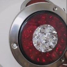 Remorque feu de frein à queue ronde 3W DC 24v   2 pièces, ATV, tout-terrain, caravane, RVs,Bus, camping-car Mobile, blanc + rouge