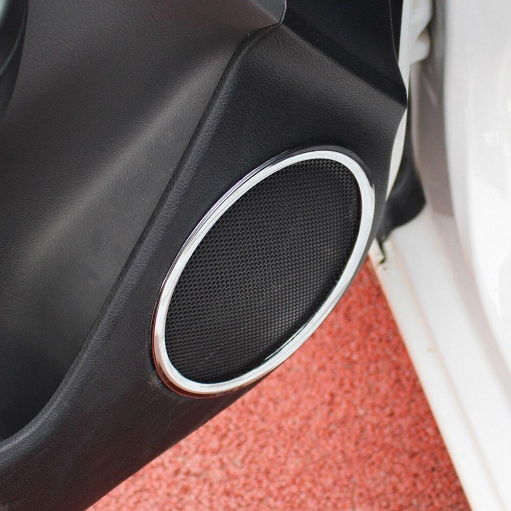 For KIA RIO K2 2011 2012 2013 ABS Chrome trim speaker ring interior decoration ring sticker