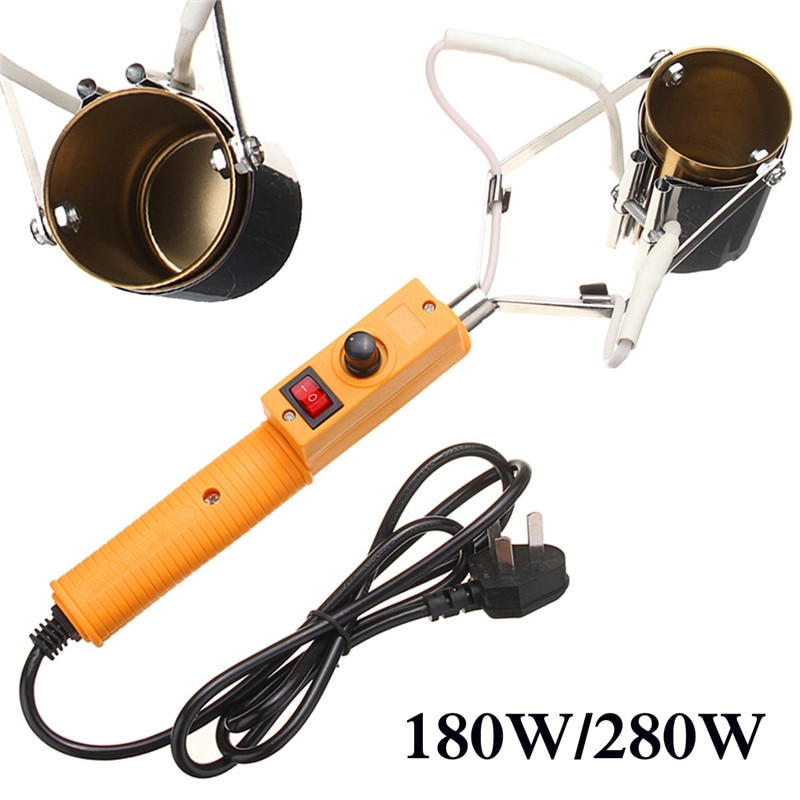 Horno de soldador portátil eléctrico AC 220 V-250 V 180 W/280 W para cabezales de fundición de estaño de plomo 150-450 grados