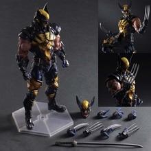 26cm Pa Super héros x-man Wolverine poupée jouer Arts Logan joint déplacer modèle classique figurines daction jouet enfants garçon cadeau de noël