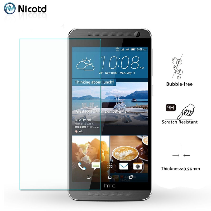 Nicotd закаленное стекло для HTC One E9 E8 M10 9H Защитная пленка для экрана для HTC Desire 826 828 830 610 510 One M8 M7 прозрачное стекло