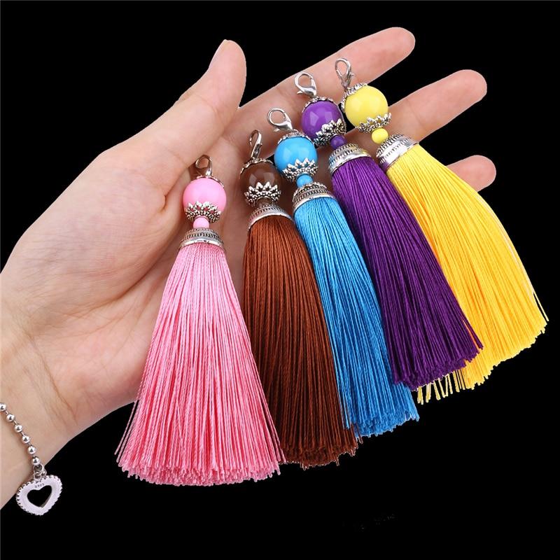 3 Pieces/Lot Silk Tassel fringe 11 cm sewing bang tassel trim key tassels for DIY embellish curtain accessories parts 20 colors