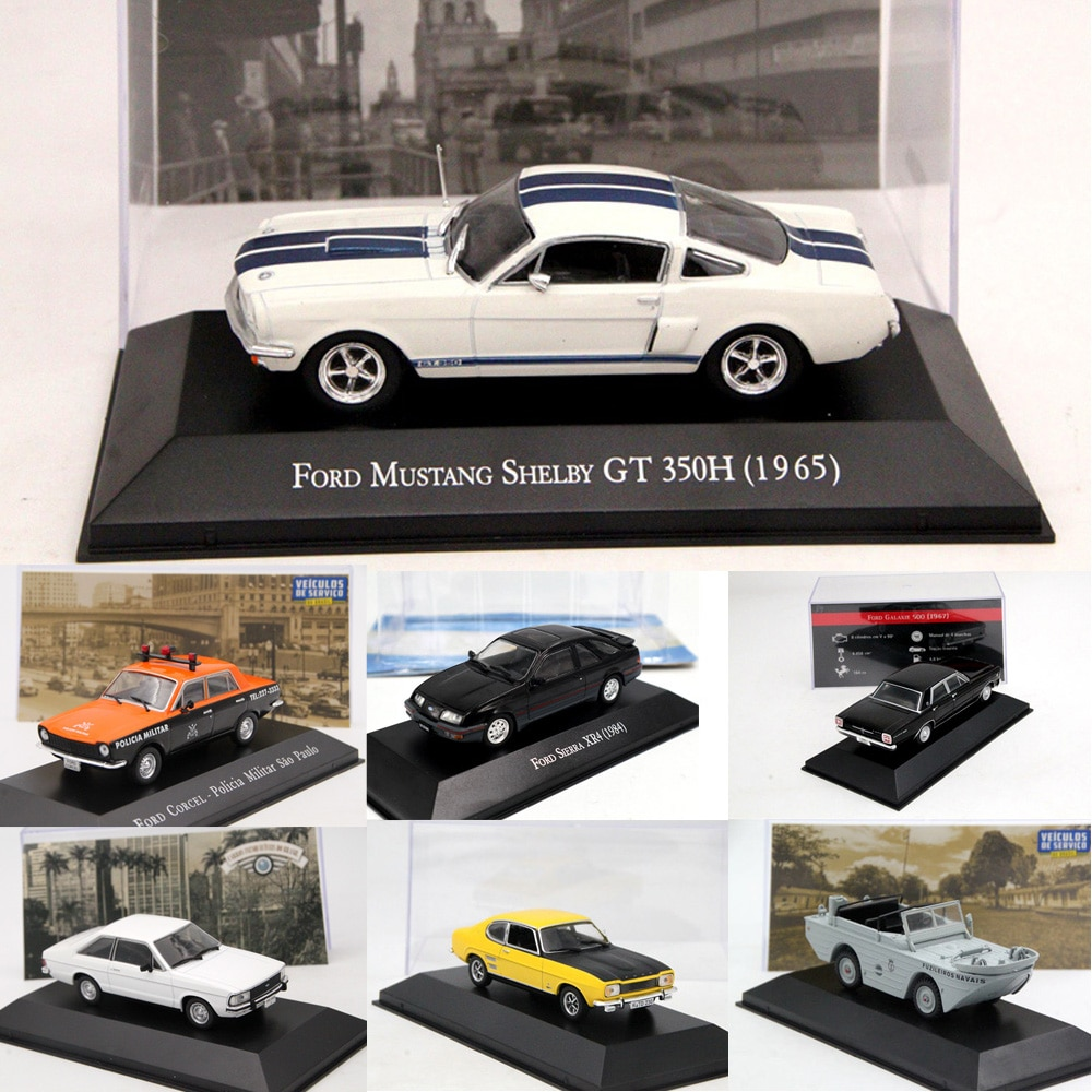 1:43 Altaya IXO Corgi Ford Mustang/Corcel Pampa/Sierra XR4/Escolta XR3/Fiesta/GPA Marinha/F75/Galaxie modelos de fundición de coches de juguete