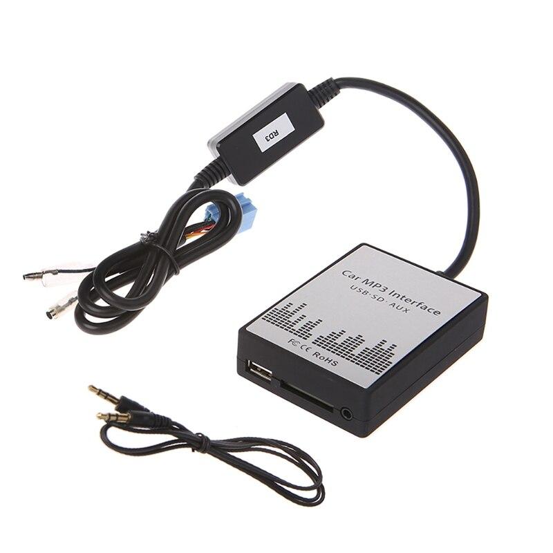 OOTDTY USB SD AUX Автомобильный MP3 музыкальный интерфейс автомобильный проигрыватель адаптер CD машина замена для Peugeot 106 206 RD3 Citroen C3 C4 C5 8PIN