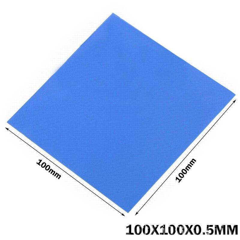 50 шт. Gdstime 100x100x0.5мм синий GPU CPU VGA Теплопроводящий силиконовый коврик