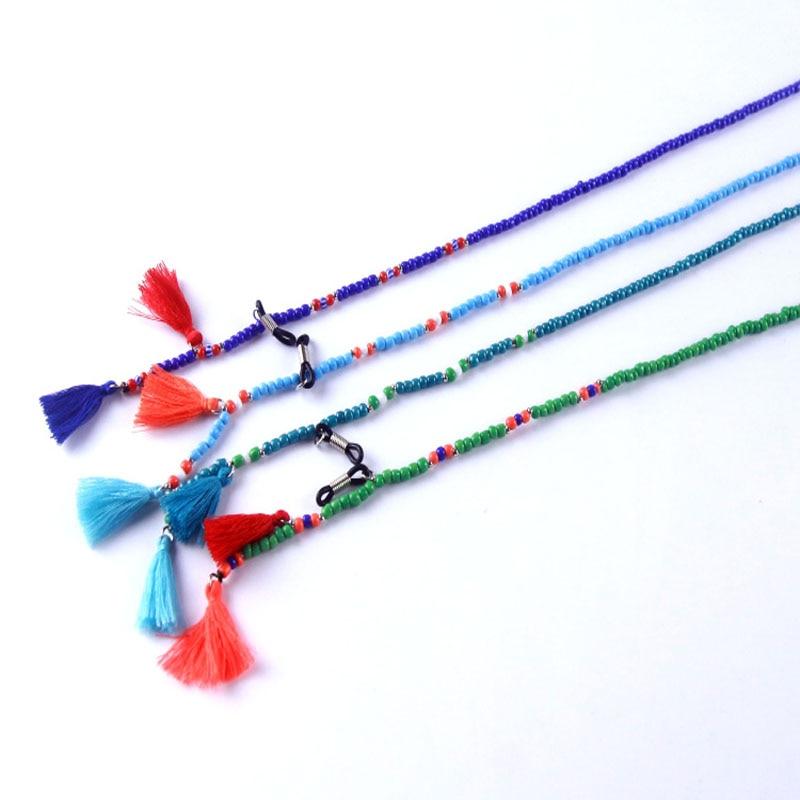 Модные противоскользящие очки с бусинами и цепочками для чтения солнцезащитные