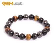 10mm pierre naturelle Bracelet oeil de tigre hématite obsidienne perles pour les femmes hommes mode noël anniversaire amour présent cadeaux chauds!