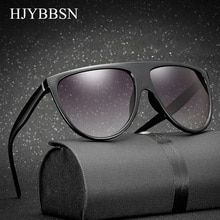 HJYBBSN 2018 Ladies Sunglasses Women Flat Top Style Brand Design Vintage Sun glasses Sunglasses for