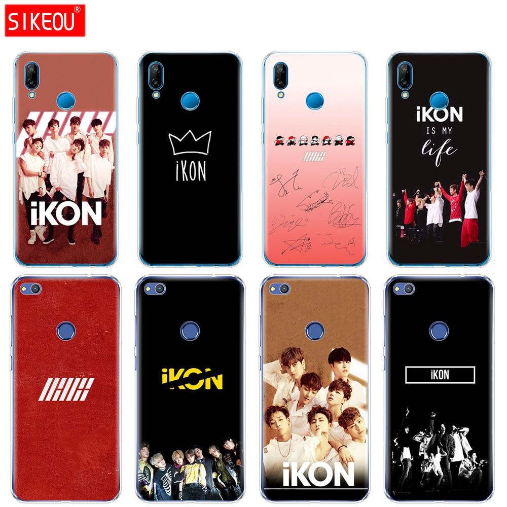 De silicona cubierta del teléfono para Huawei P20 P7 P8 P9 P10 Lite Plus Pro 2017 smart 2018 IKON Kpop