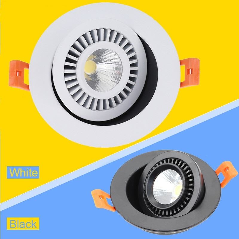 aisilan square led surface mounted cube ceiling downlight for room corridor hallway ac85 260v cob design spot light 360 Degree Rotating Recessed COB LED Downlight 5W 7W 9W AC90-260V Spot Led Light Surface Mounted Ceiling Lamp With LED Driver