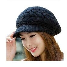 oZyc New Women Winter Hat Warm Beanies Fleece Inside Knitted Hats For Woman Rabbit Fur Cap Autumn And Winter Ladies Fashion Hat