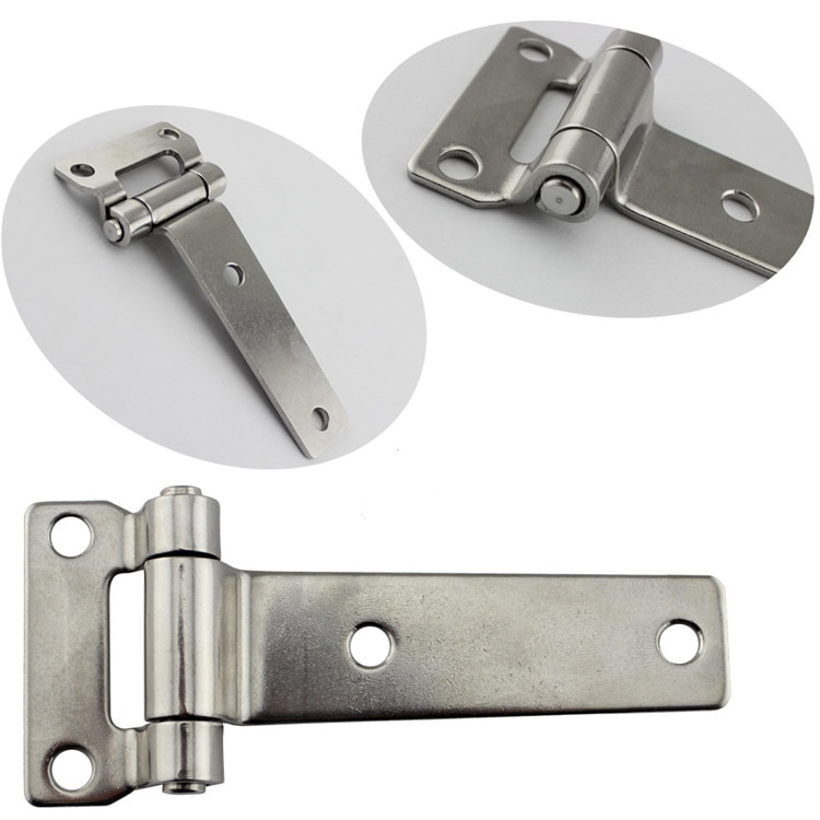 Durable Stainless Steel T Type Container Hinge Heavy Truck Vehicle Hinges 135*58mm
