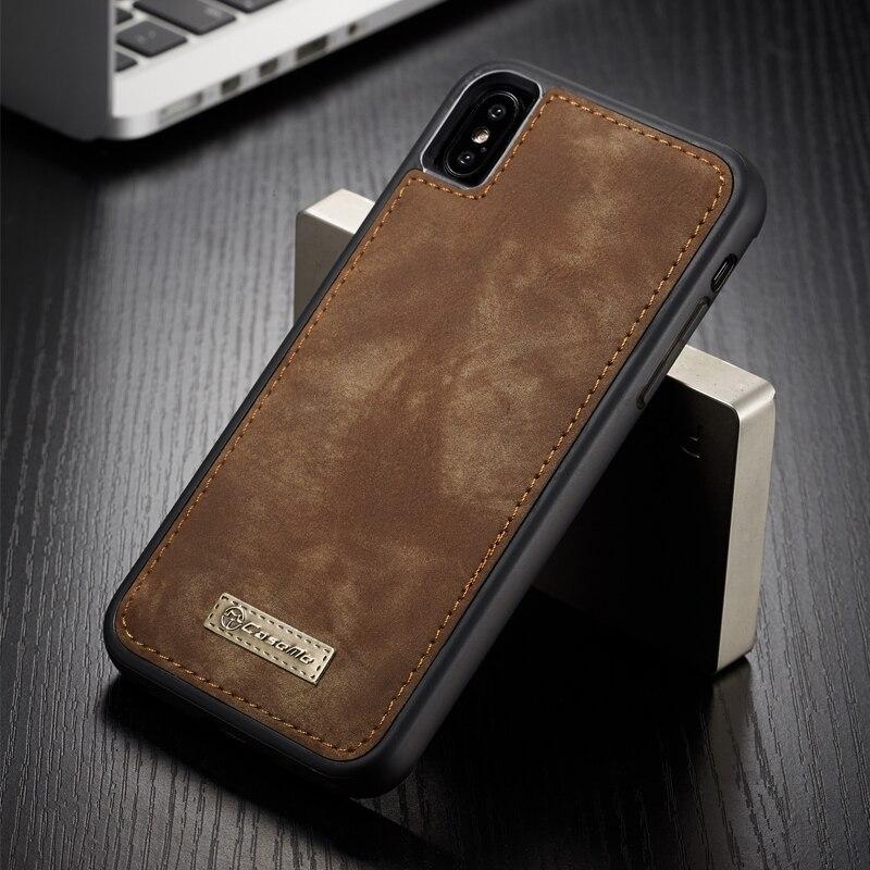 Funda Original para iPhone XS Max con imán integrado Vintage de cuero y silicona TPU suave para iPhone X XS MAX XR
