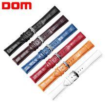DOM nouvelle montre Bracelet ceinture hommes montre pour femme Bracelet bracelets de montre 18mm 20mm 22mm montre accessoires Faux cuir Bracelet