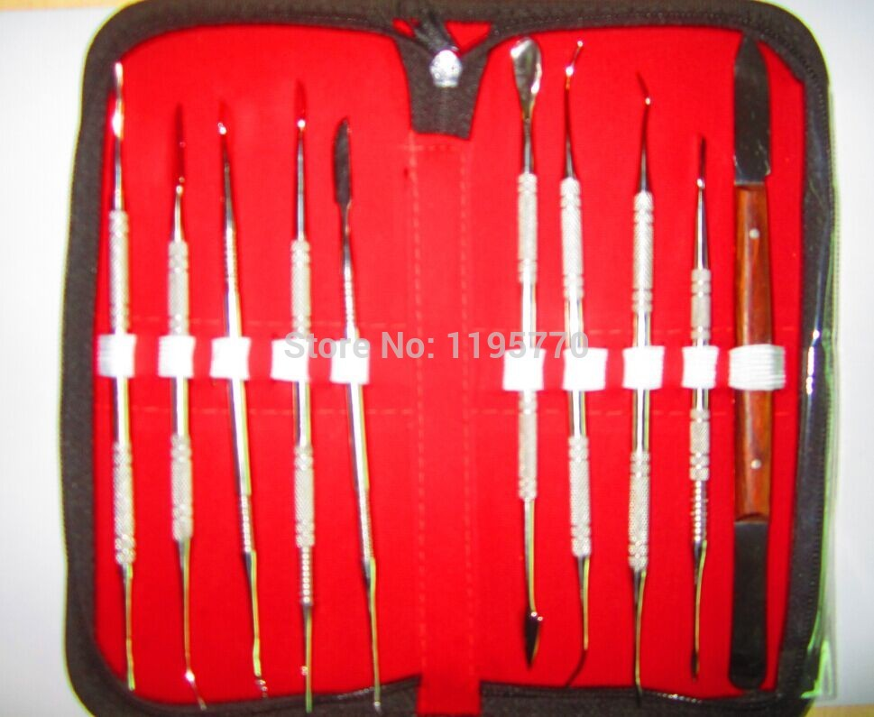 High Quality Dental Lab Equipment Wax Carving Tools Set Surgical Dentist Sculpture Knife Instruments