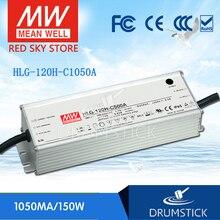 O bem médio constante HLG-120H-C1050A 74 v ~ 148 v 1050ma meanwell HLG-120H-C 155.4 w conduziu a fonte de alimentação do motorista um tipo