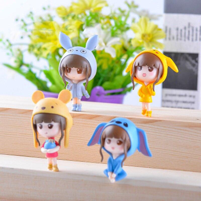 ZOCDOU 1 pieza Chica de Anime pequeña estatua muñeca juguete niño Diy figurita de hada jardín hogar Escritorio de coche artesanía miniaturas decoración ornamento