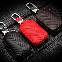 Peacekey Car Key Holder case Purses Daily Use Male Wallet For Keys Portable Wallets Women Weave Hous