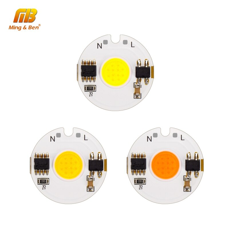 LED COB Chip Smart IC Light 3W 5W 7W 9W 12W 220V Day Cold Warm White Grow Light For DIY LED Spotlight Floodlight No Need Driver