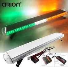"CIRION 47"" 88LED Car Vehicle Led emergency strobe lights Flashing Beacons Recovery Police Work Light Bar Yello White Green 24V"
