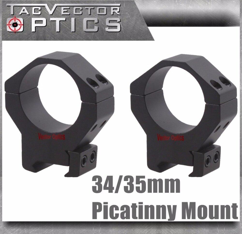 Vector Optics Mark 35mm or 34mm Tactical Medium Profile Rifle Scope Picatinny Mount Rings