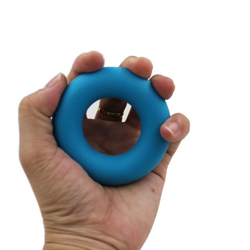 Agarre de mano en forma de anillo de silicona ligero portátil agarre anillo dedo ejercitador entrenador muñeca músculo herramienta de entrenamiento