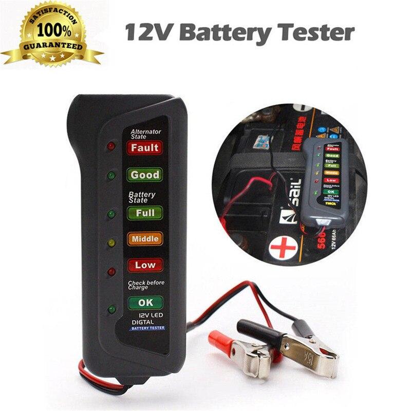 Автомобильный сканер kongyide 12 В цифровой тестер генератора аккумулятора дисплей с