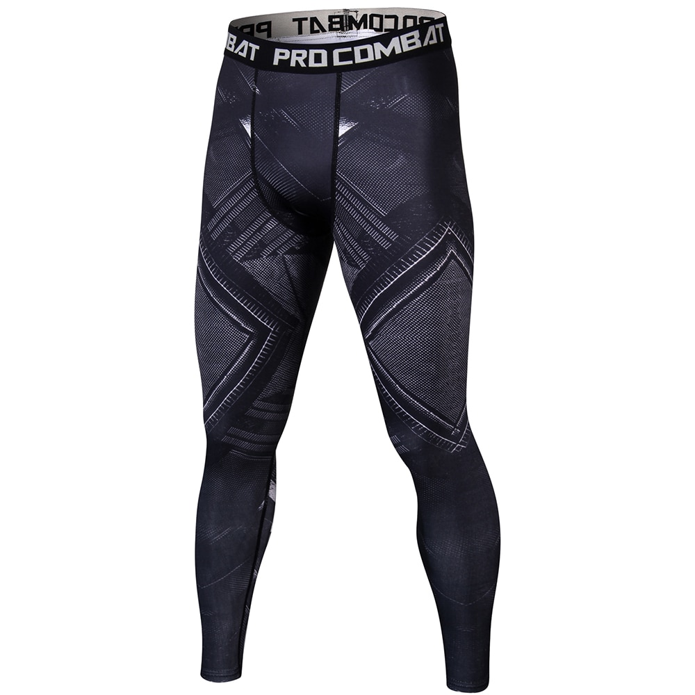 Pantera Negra 3D de entrenamiento de Fitness pantalones elásticos leggings fondo de levantamiento de peso de culturismo Leggin hombre SkinTrouser