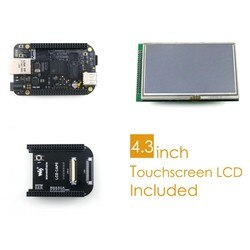 "Beaglebone preto rev c placa de desenvolvimento 512 mb ddr3 4 gb 8bit emmc 1 ghz braço Cortex-A8 + 4.3 ""tela lcd + cabo lcd + cabos"
