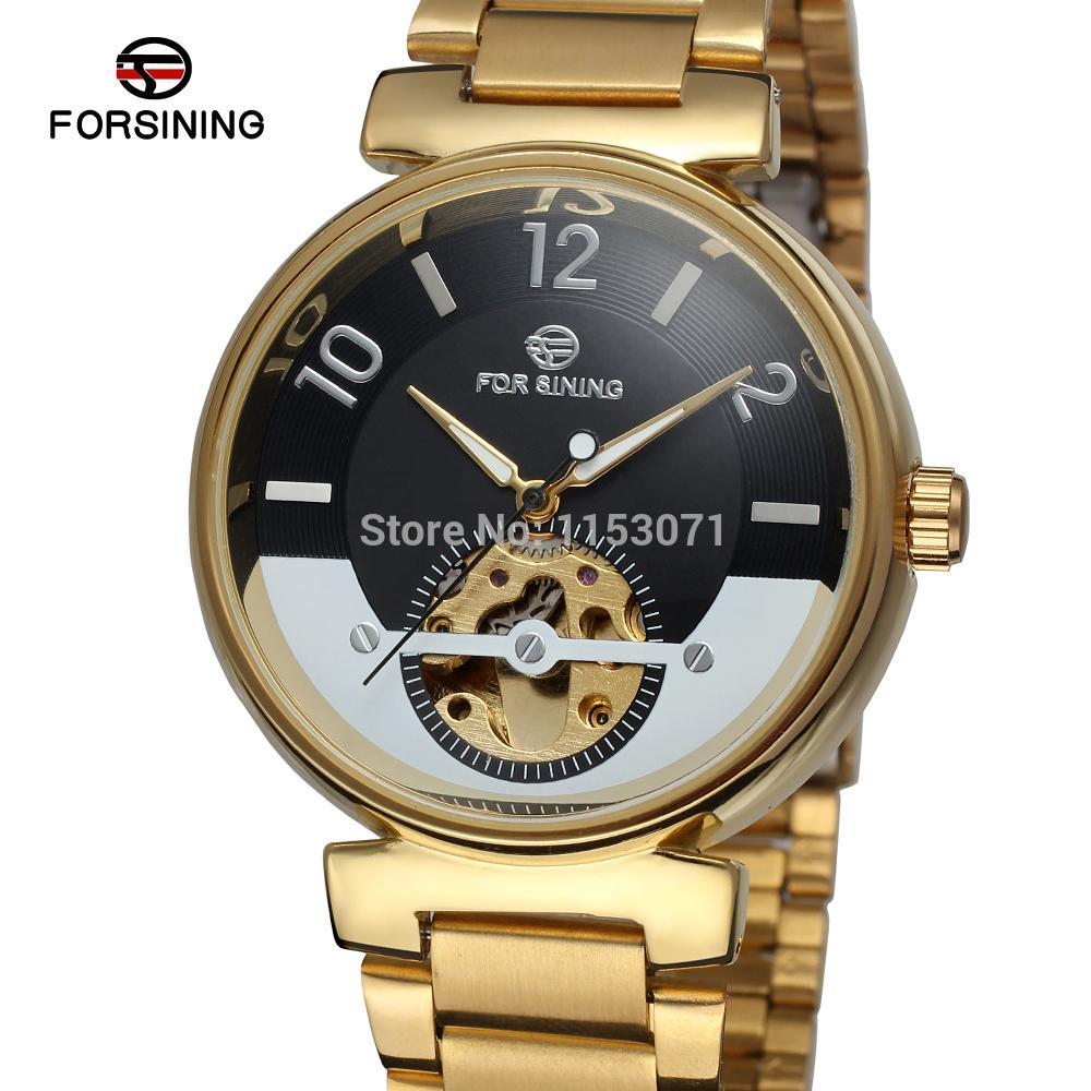 FSG8070M4G4  Forsining brand Men's  Automatic self-wind dress fashion skeleton watch with analog gift box  free shipping