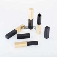 100pcs Slim Lip Balm Tube Empty DIY Oblique Edge Lipstick Tube Plastic 8.5mm Lip Rouge Make up Packing Containers F2480
