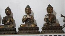 "xd 00724 16""Tibet Buddhism Bronze Three Sakyamuni Amitabha Tathagata Buddha statue Set"