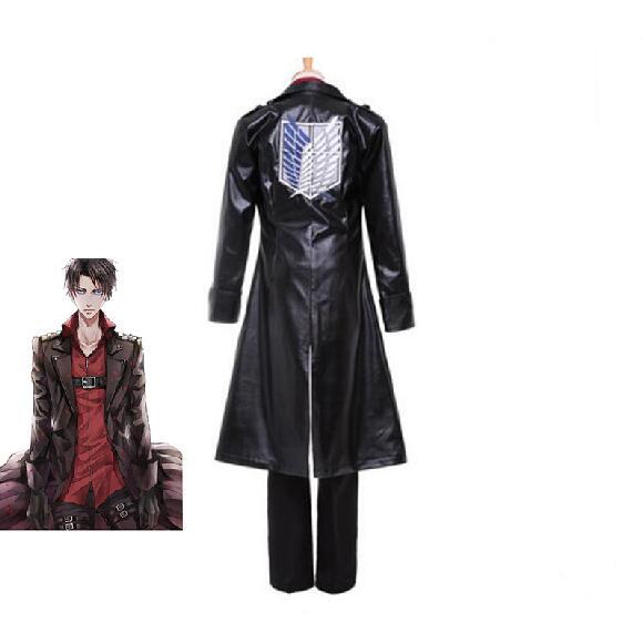 كوسكوشاواي-أزياء تنكرية للهجوم على تيتان ، زي كرتوني ليفي أكرمان ريكون فيونكة ريكون ، زي مخصص ضد أجنحة تأثيري