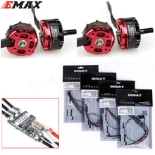 4pcs Original EMAX RS2205 2300KV CW/CCW Motor + RC 4Pcs OCDAY BLHeli 20A Mini 2-4S Lipo ESC For FPV Mini Racing Quadcopter
