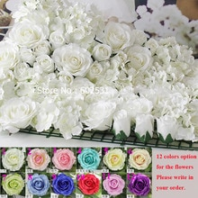 SPR bricolage artificiel rose fleurs têtes soie décoratif fleur hôtel fond mur decor20pcs bricolage route led mariage fleur Bouquet