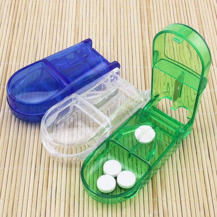 Folding Vitamin Medicine Drug Pill Box Case Organizer Tablet Container Cutting Drugs Storage Organizer