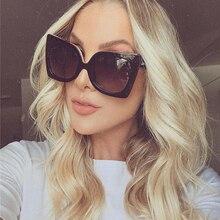 Lunettes de soleil léopard œil de chat   Large monture mode femmes Luxulry marque styliste Vintage fille Homme, lunettes de soleil classiques noires