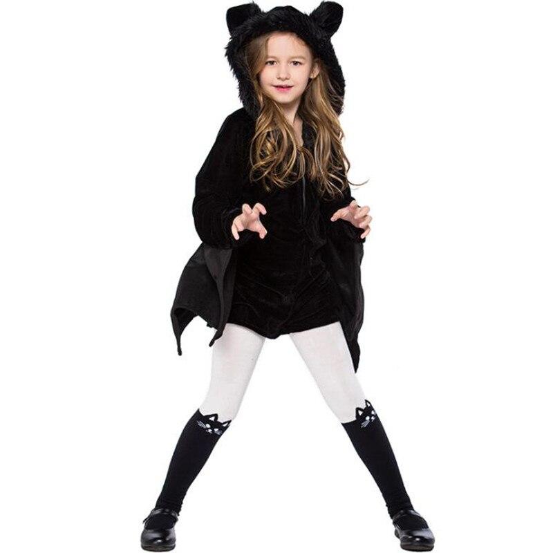 Niños Niñas Balck Bat Cosplay niños etapa de Mascarada del rendimiento disfraces fiesta decoración disfraz Navidad Halloween