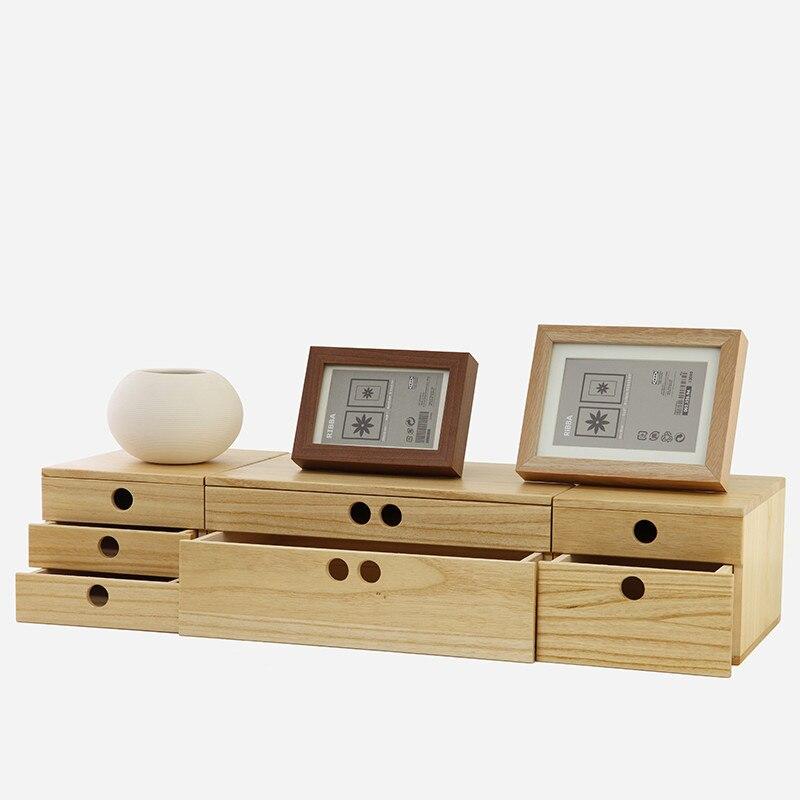 Деревянная шкатулка для хранения ювелирных изделий и канцелярских