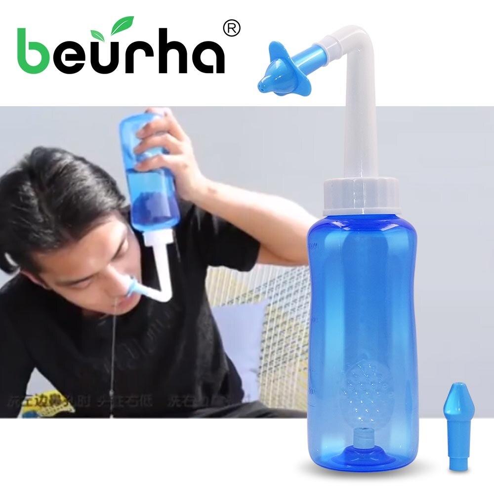 300 мл очиститель носа терапия нети горшок для взрослых детей носовая стирка чистый уход протектор увлажняет Избегайте аллергического ринита лечение
