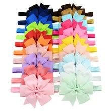 20pcs/lot  7 inchs(11CM)Baby Ribbon Bow Headband Bowknot Headbands Hair bands Hair Ties Hair Accessories