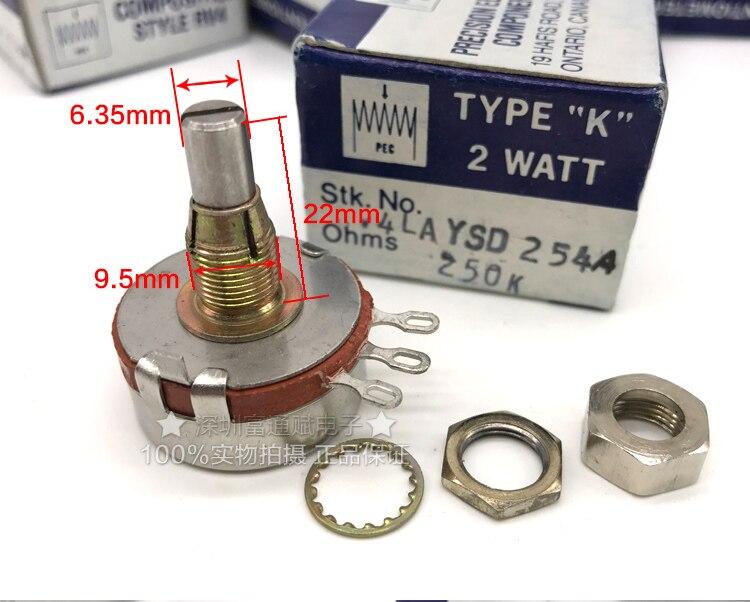 [VK] مقياس جهد RV4AYSD254A 250K 2W, مفتاح مقياس الجهد
