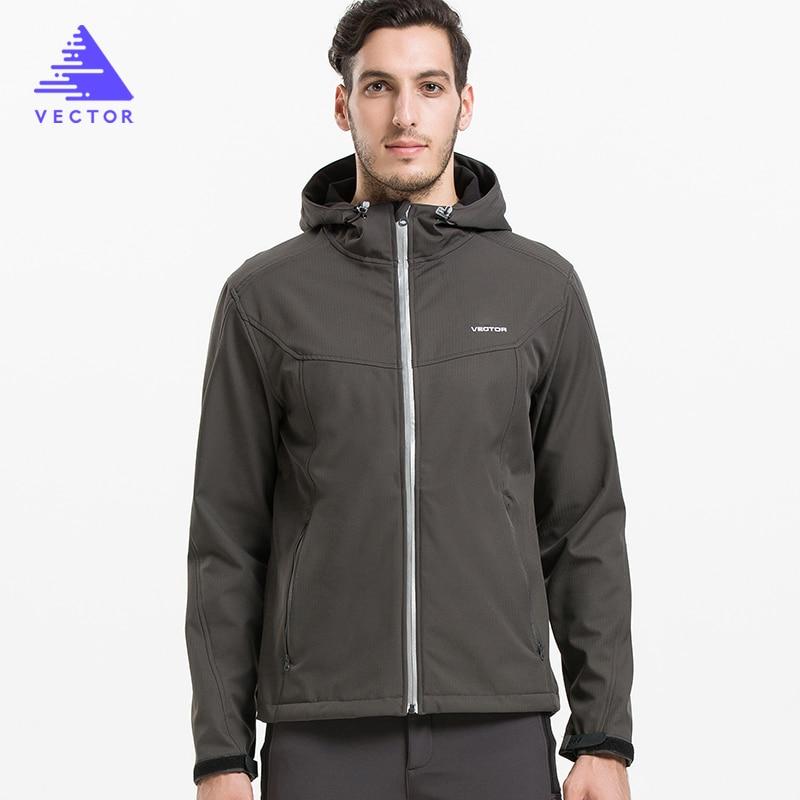 VECTOR Softshell-jacke Männer Outdoor Jacke Winddicht Wasserdichte Jacke Männlichen Camping Wandern Jacken Regen Windjacke 60025