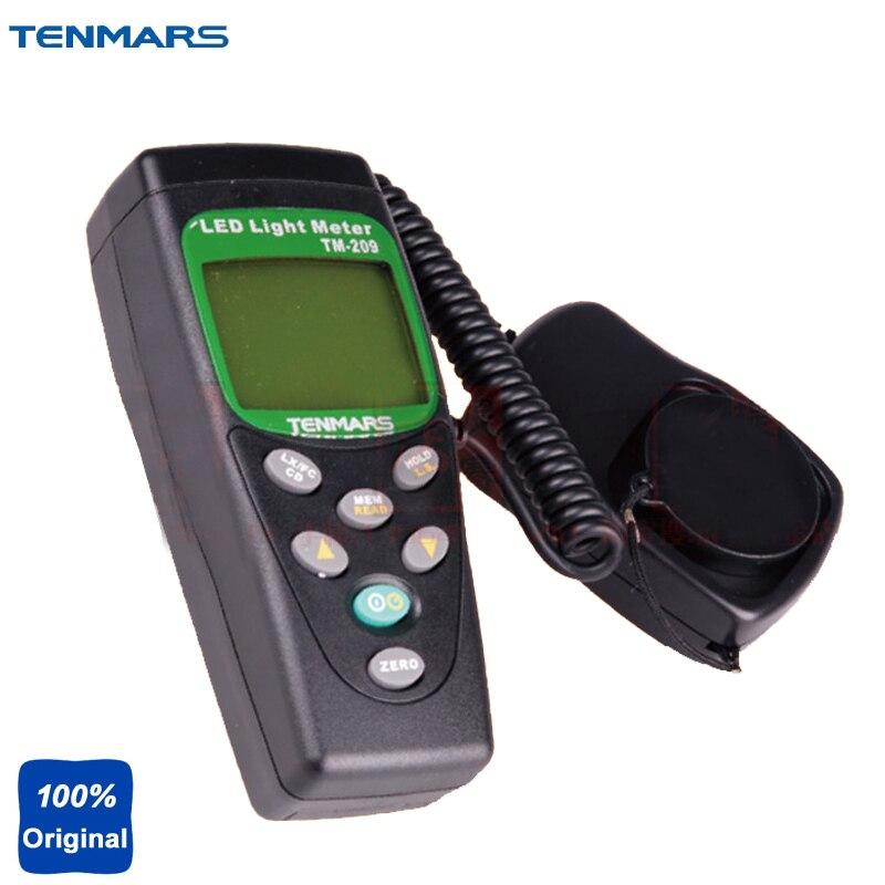 הדיגיטלי LED מד רמת 400,000 Lux FC מדידת אור Luxmeter TENMARS TM209
