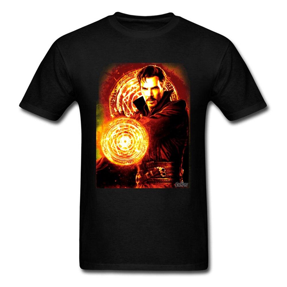El dr. extraño resplandor Top camisetas de los hombres T camisa verano Otoño de algodón puro O cuello Tee Camisas manga corta ropa Normal negro