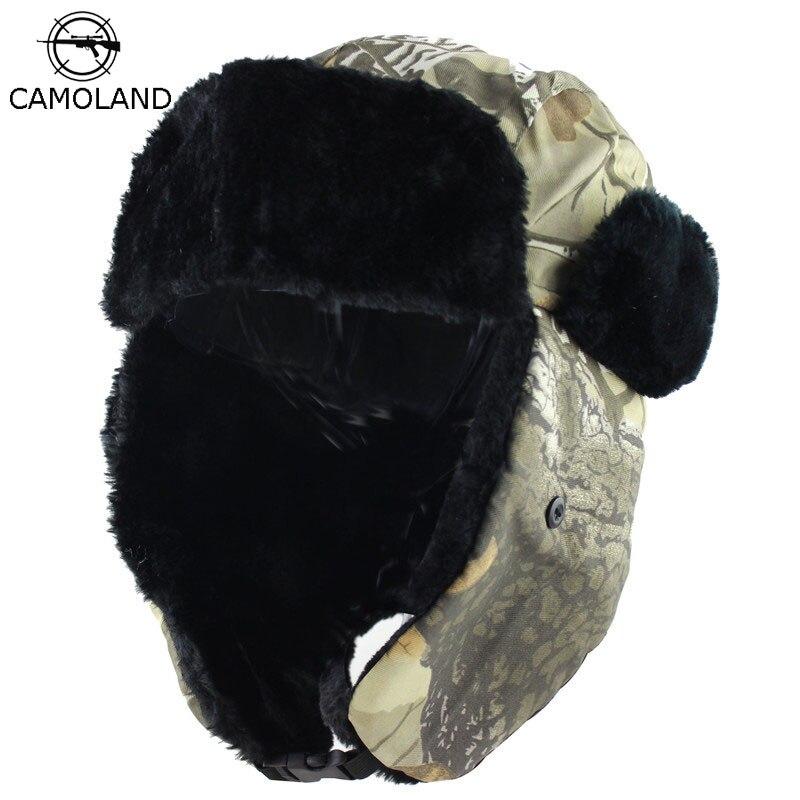 2019 Winter Hat Warm Earflap Bomber Hats Men Women Russian Thermal Trapper Hat Trooper Earflap Snow