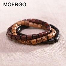 New Fashion Natural Wooden Beaded Charm Stretch Bracelet For Man Women Lucky Handmade Healing Balance Yoga Beads Bracelet Gift