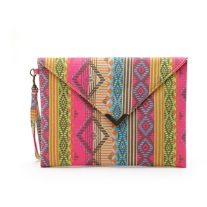 BARHEE Brand Bohemia National geometric canvas bags Envelope package ethnic style hand bags women phone package purses big walle