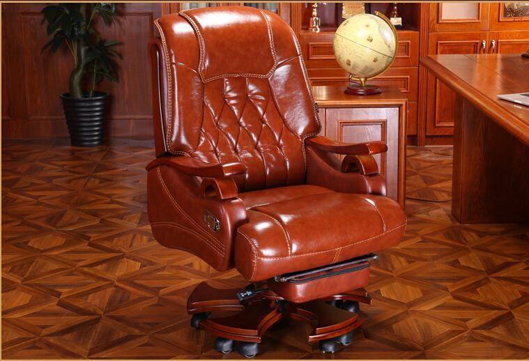 Кожаное кресло руководителя массажное кресло для офиса домашнее компьютерное кресло поворотное кожаное кресло.