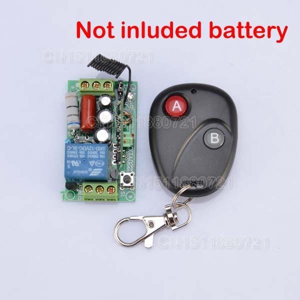 220 V 1CH 10A 1000 W AC Controle Remoto Sem Fio Interruptor de Luz sistema de Lâmpada LED SMD ON OFF Não Com Bateria E caso